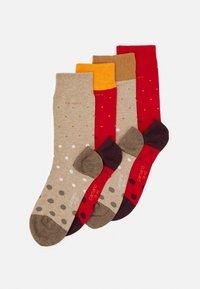 camano - SOCKS UNISEX 4 PACK - Ponožky - true red - 0