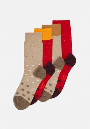 SOCKS UNISEX 4 PACK - Socks - true red