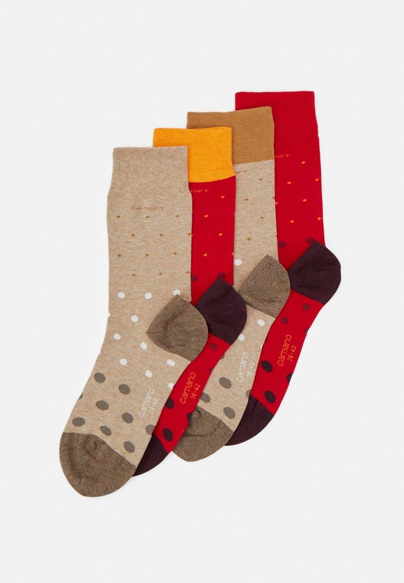 camano - SOCKS UNISEX 4 PACK - Ponožky - true red