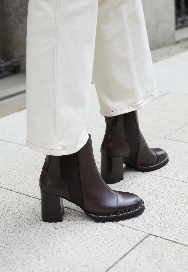 See by Chloé - MALLORY - High heeled ankle boots - dark brown