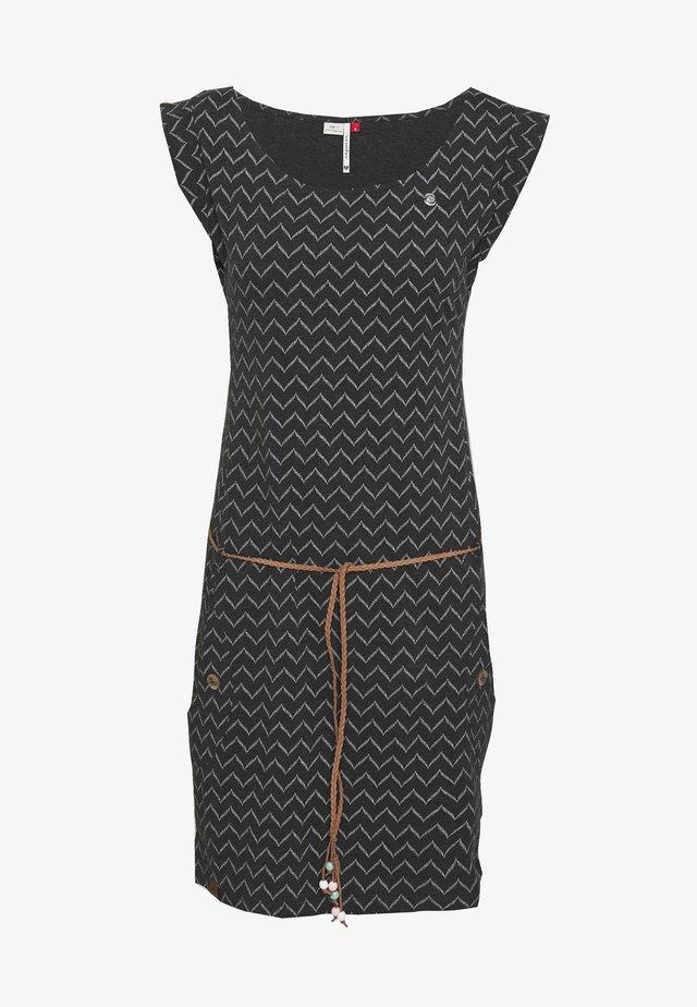 TAG ZIG ZAG - Jersey dress - black