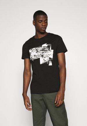 JJDEN TEE CREW NECK - T-Shirt print - black
