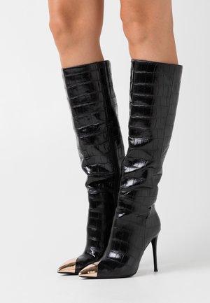 ARSEN - High heeled boots - black stone