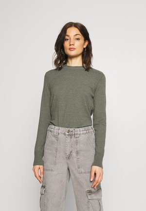ROUND LONG SLEEVE - Jumper - dusty green