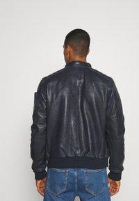 G-Star - HAWORX - Leather jacket - garris washed/mazarine blue - 2