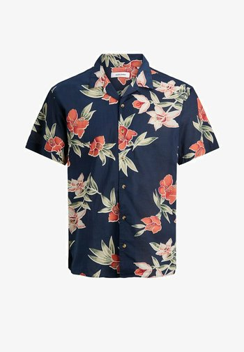 JJGREG PLAIN - Skjorta - navy blazer