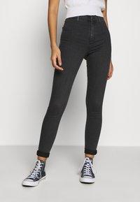 Topshop - JONI  - Jeans Skinny Fit - washed black - 0