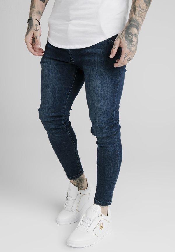 SIKSILK SKINNY - Jeansy Skinny Fit - dark-blue denim/ciemnoniebieski Odzież Męska LGQG