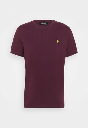PLAIN - Basic T-shirt - burgundy