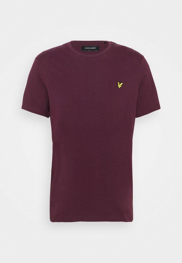 PLAIN - T-shirt basic - burgundy