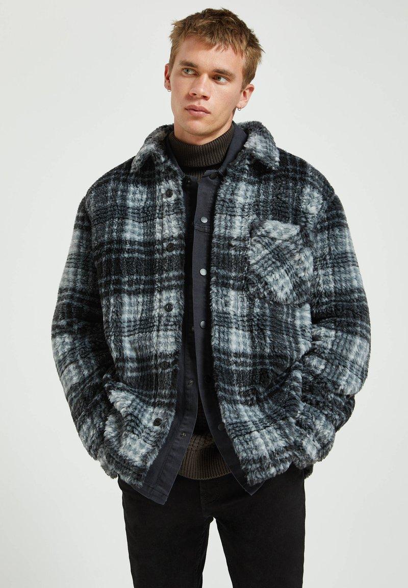 PULL&BEAR - Fleece jacket - mottled dark grey