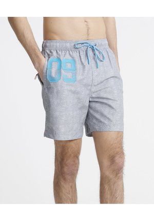 SUPERDRY WATERPOLO SWIM SHORTS - Swimming shorts - silver grey grit