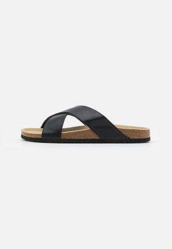 UNISEX - Slippers - black