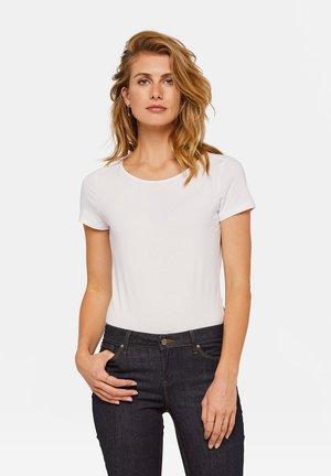 WE FASHION DAMEN-T-SHIRT AUS BIO-BAUMWOLLE - Basic T-shirt - white