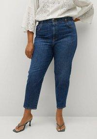 Violeta by Mango - PAPERBAG - Straight leg jeans - dunkelblau - 0