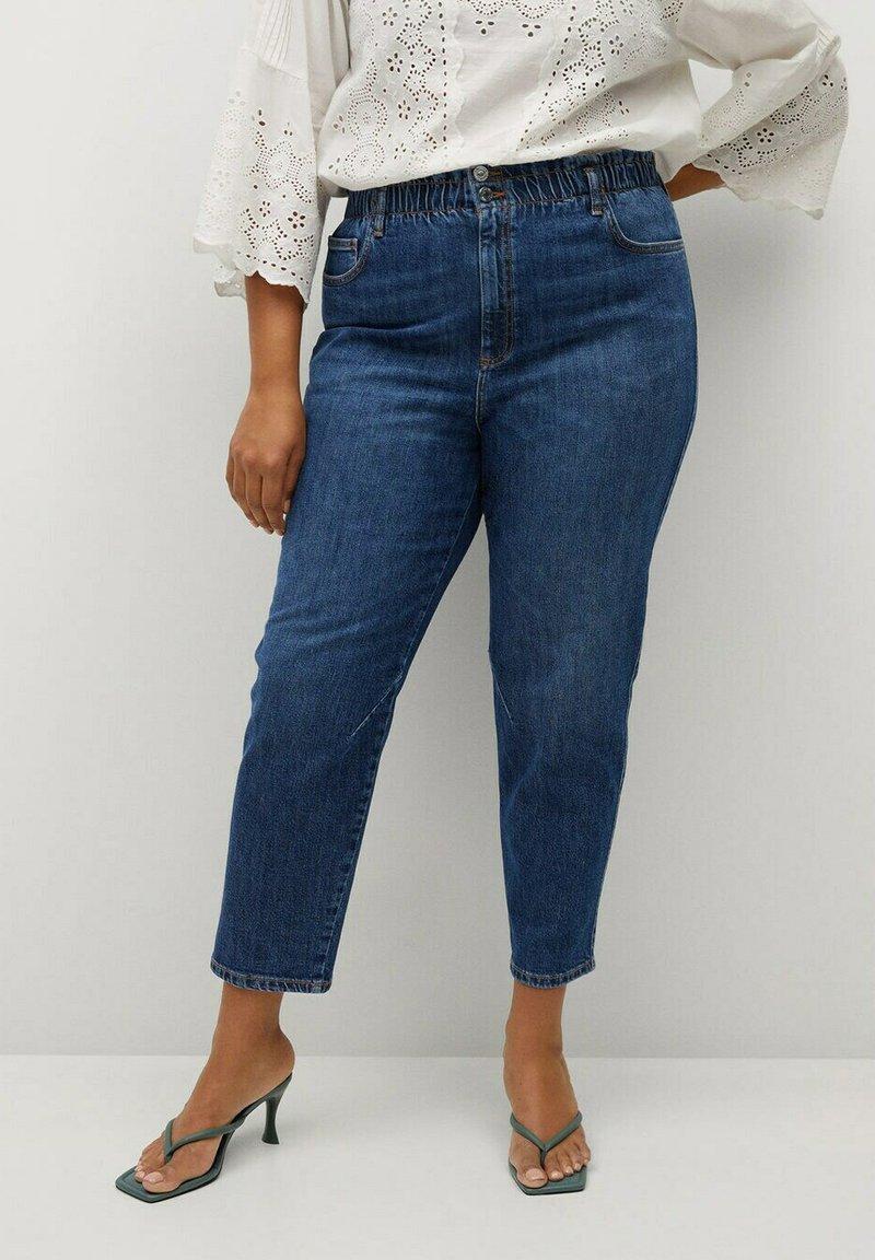 Violeta by Mango - PAPERBAG - Straight leg jeans - dunkelblau