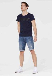 Harlem Soul - HARLEM  - Denim shorts - blue used - 1