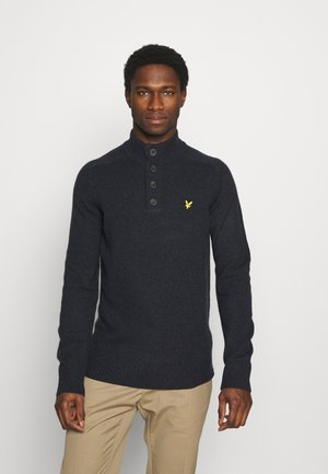 FUNNEL NECK JUMPER - Stickad tröja - dark navy marl