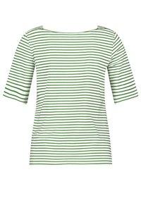Gerry Weber - 1/2 ARM - Print T-shirt - ecru/weiss/grün ringel - 3