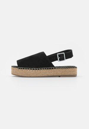 WIDE FIT RACHAEL - Platform sandals - black