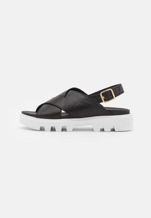 PIAVE - Sandály na platformě - black