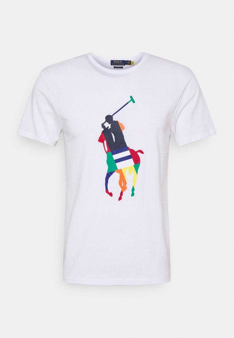 Polo Ralph Lauren - CUSTOM SLIM FIT BIG PONY JERSEY T-SHIRT - Print T-shirt - white