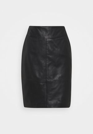 CRLASARI SKIRT - Bleistiftrock - pitch black