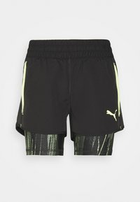Puma - INDIVIDUAL CUP SHORTS - Pantalón corto de deporte - puma black/asphalt/soft fluo yellow - 0