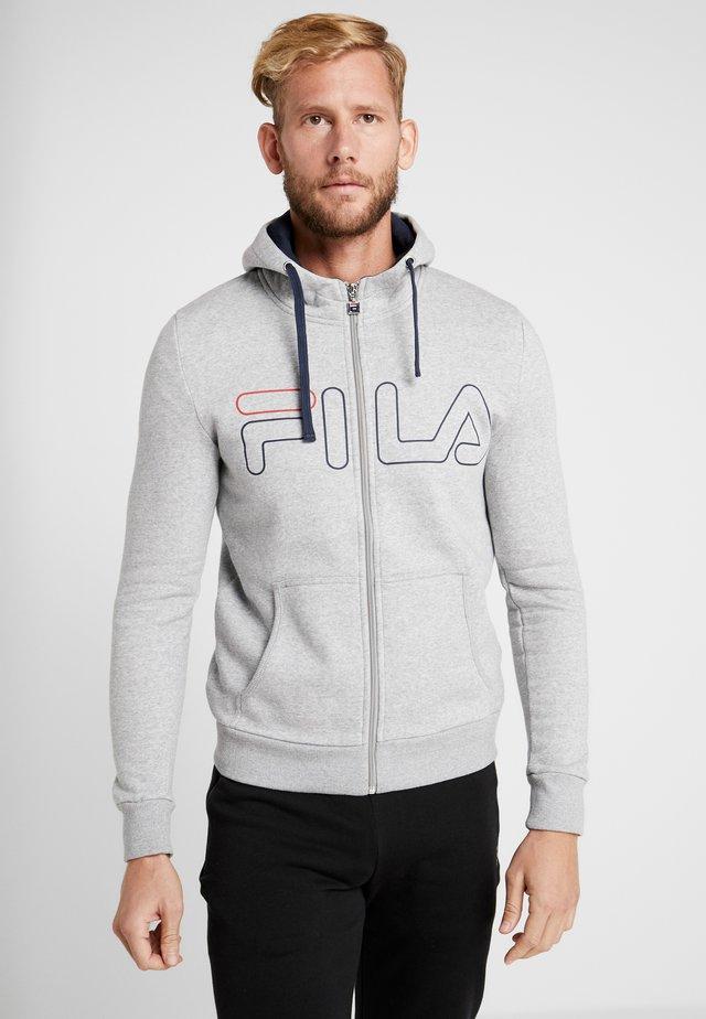WILLI - Zip-up hoodie - light grey melange