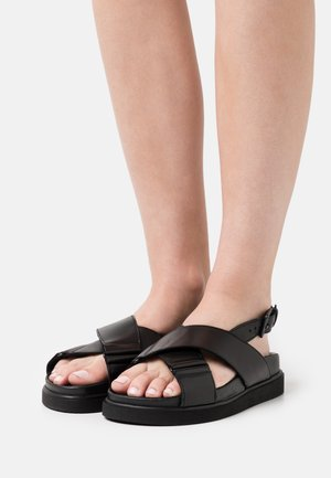 DARCIE - Sandály na platformě - black
