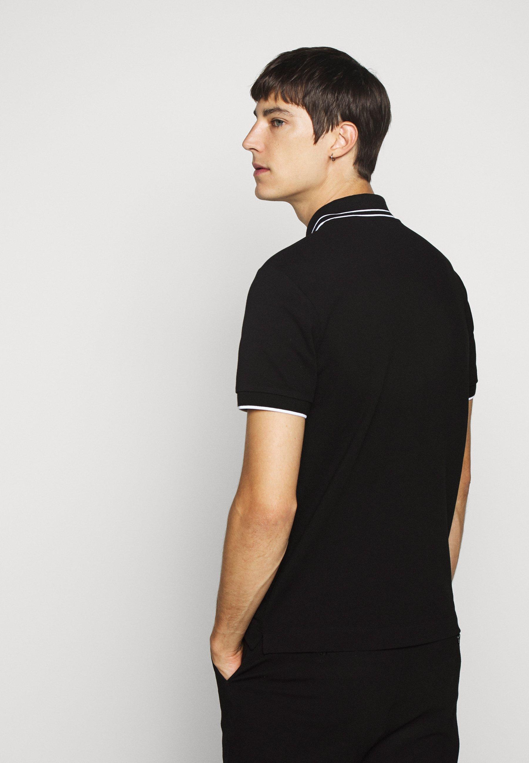 McQ Alexander McQueen Polo - darkest black/white