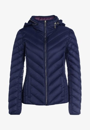SHORT PACKABLE PUFFER - Bunda z prachového peří - dark navy