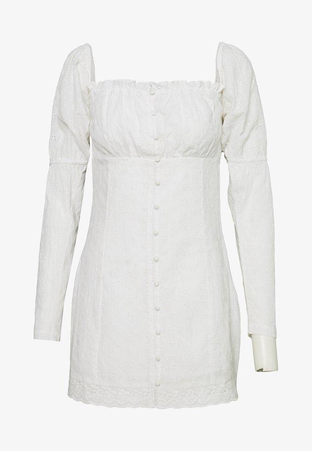 MOVE FOR ME DRESS - Shirt dress - white