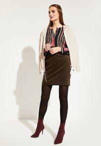 comma casual identity - Mini skirt - dark khaki - 1