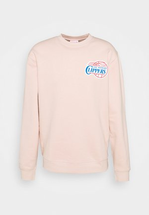 NBA LOS ANGELES CLIPPERS WARM UP PASTEL CREW - Club wear - pink