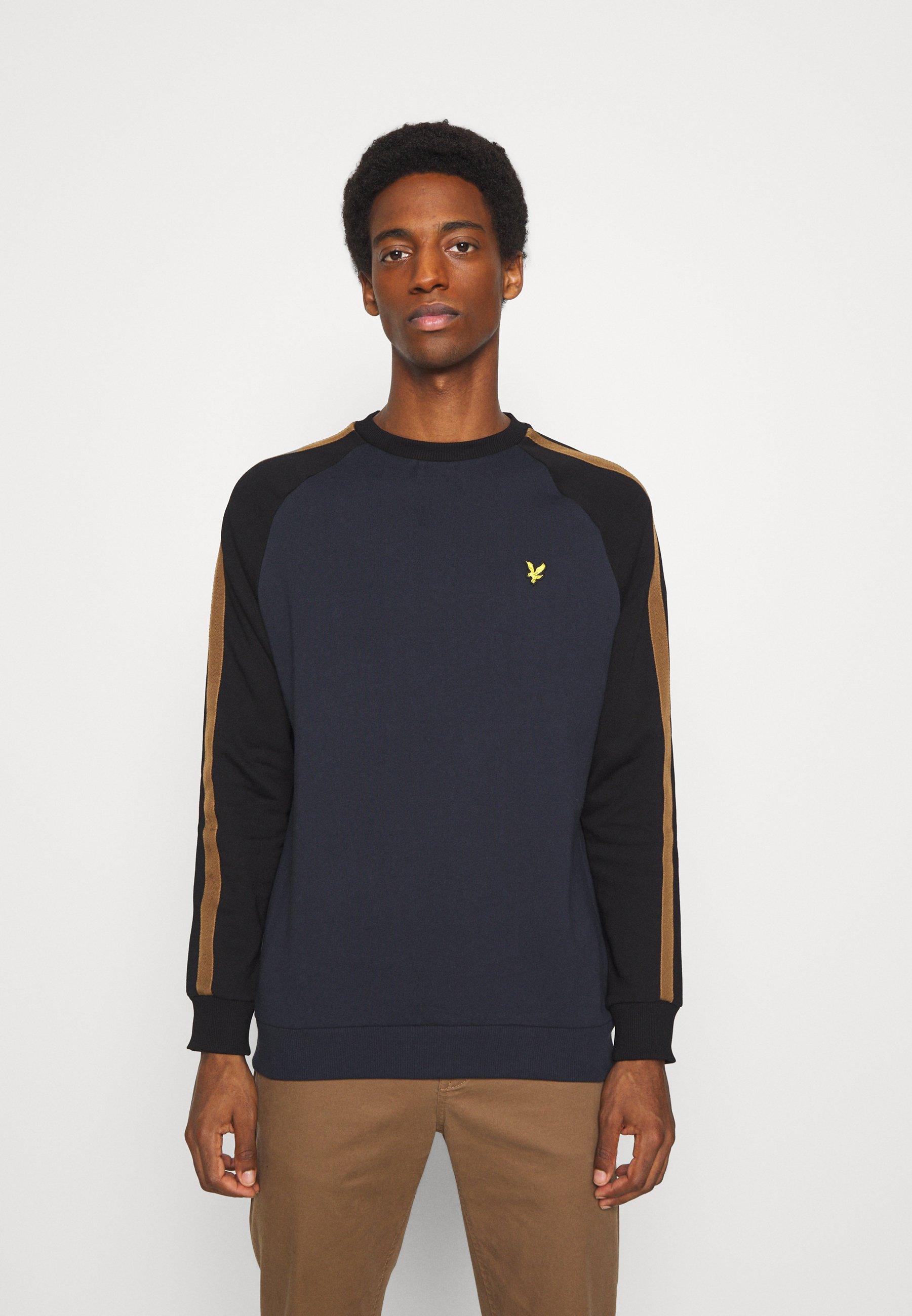 Men COLOUR BLOCK CREW - Sweatshirt