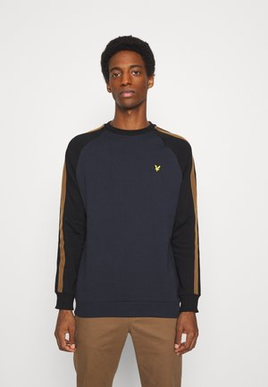 COLOUR BLOCK CREW - Sweatshirt - dark navy