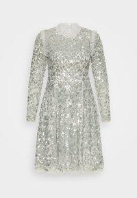 Needle & Thread - AURELIA LONG SLEEVE MINI DRESS - Koktejlové šaty/ šaty na párty - dove blue - 6