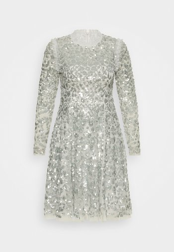 AURELIA LONG SLEEVE MINI DRESS - Sukienka koktajlowa - dove blue