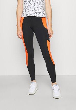 MALLAS LIFT - Collant - black/orange