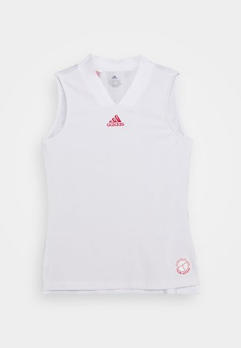MATCH TANK - Koszulka sportowa - white/scarlet
