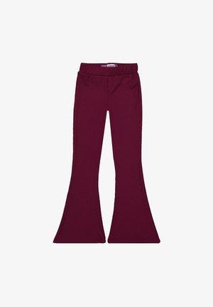 HOSE PORTO - Bootcut jeans - bordeaux red
