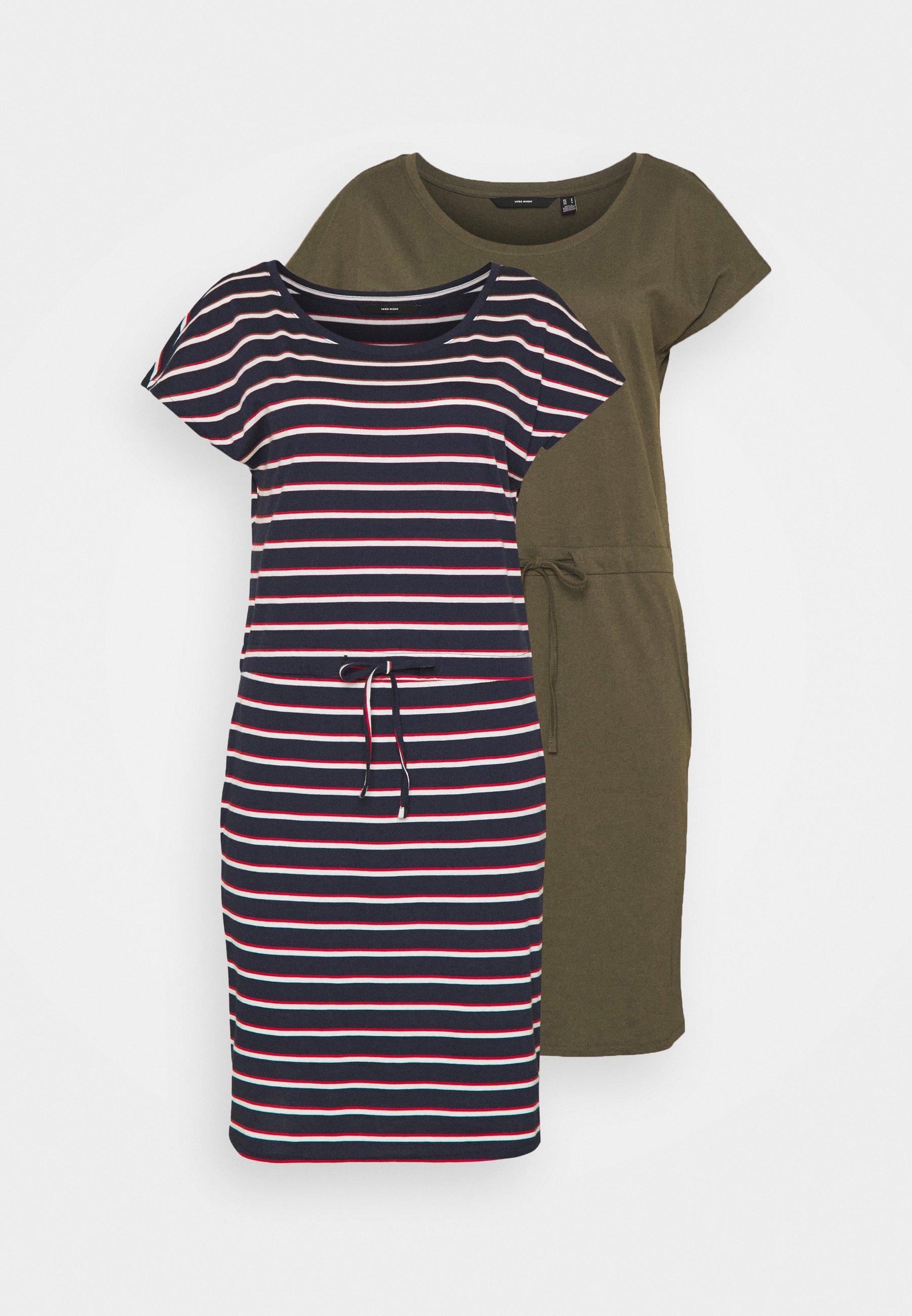 Women VMAPRIL SHORT DRESS 2 PACK - Jersey dress