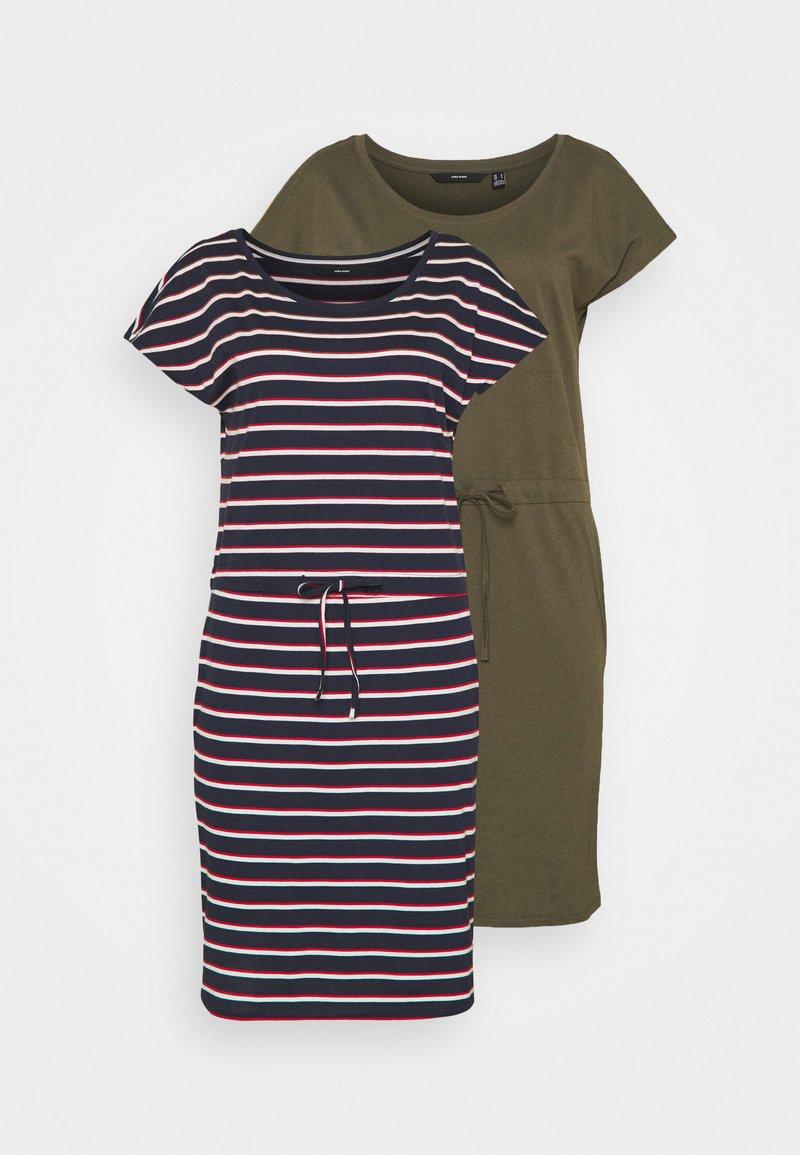 Vero Moda Tall - VMAPRIL SHORT DRESS 2 PACK - Jersey dress - ivy green/navy blazer