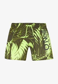 O'Neill - CALI FLORAL - Swimming shorts - green/yellow - 2