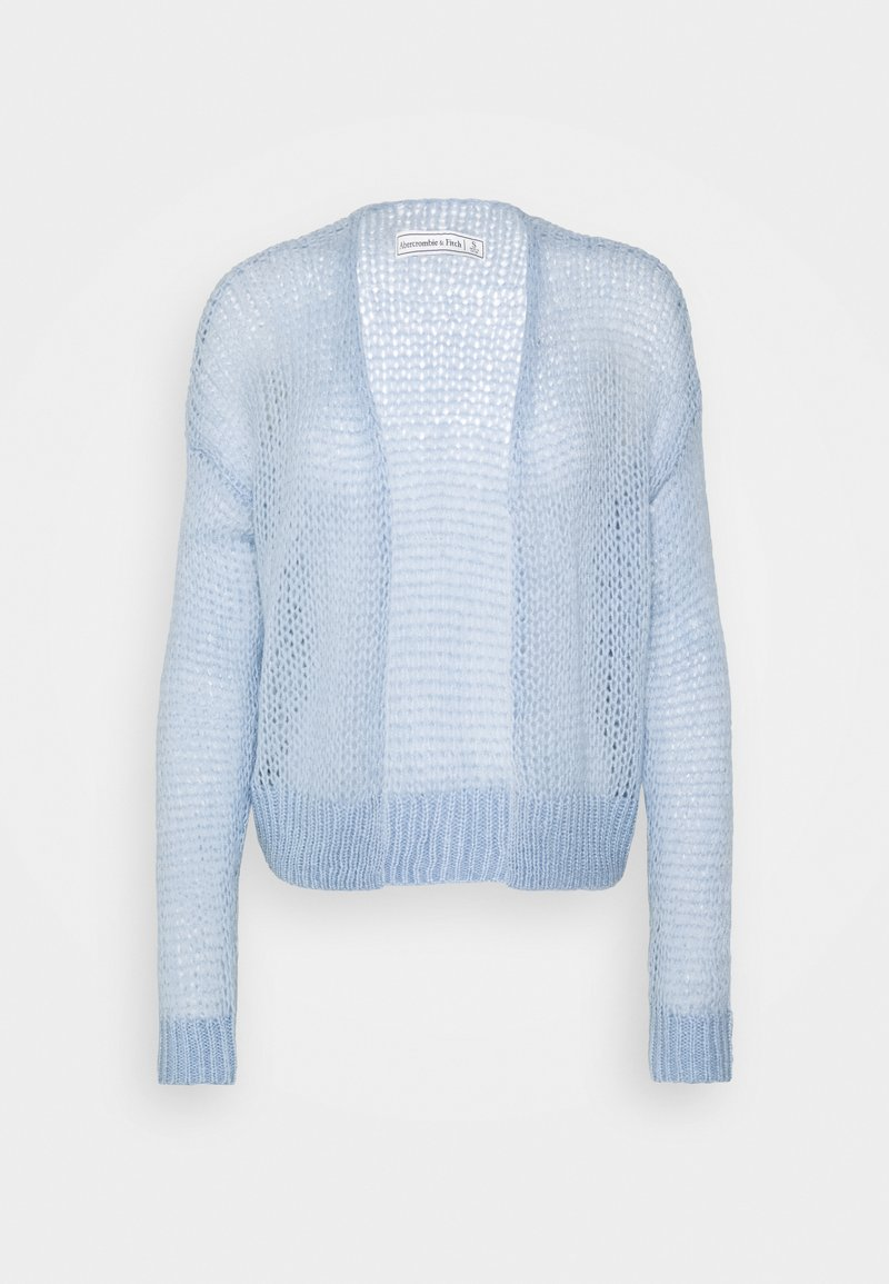 Abercrombie & Fitch - LOUISE OPEN STITCH  - Cardigan - blue