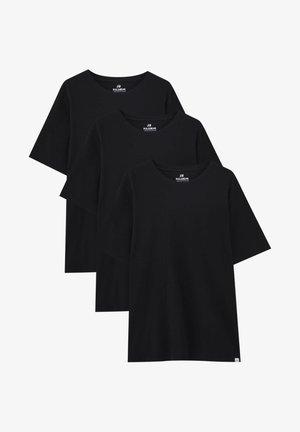 3 PACK - Jednoduché triko - black