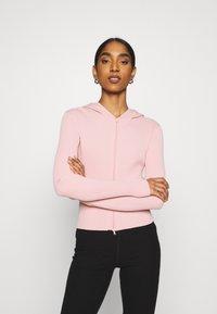 Weekday - LUELLA HOOD - Zip-up sweatshirt - pink medium - 0