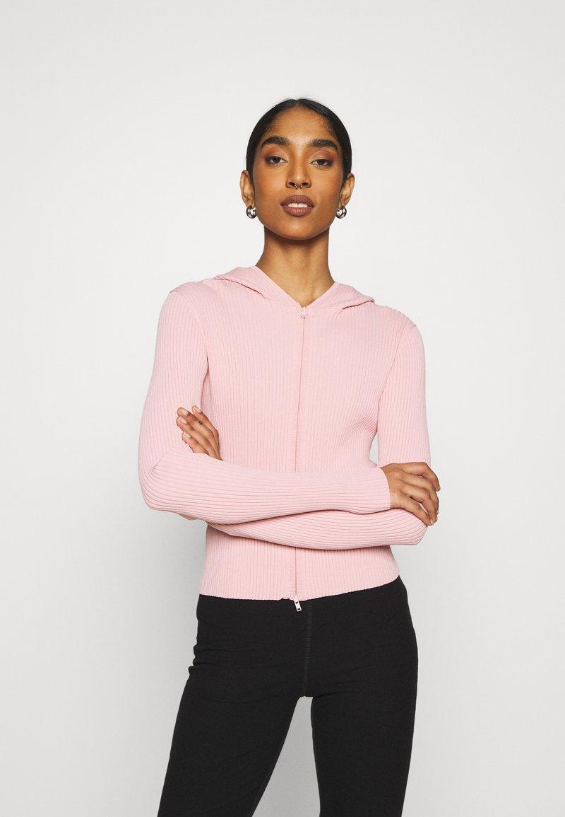 Weekday - LUELLA HOOD - Zip-up sweatshirt - pink medium