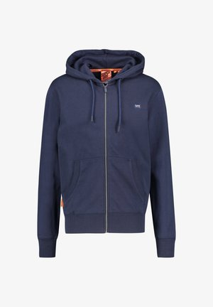 SUPERDRY HERREN SWEATJACKE - Zip-up hoodie - dark blue